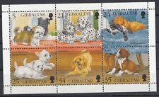 Gibilterra/Gibraltar  1996 cani cuccioli di razze diverse in blocco 761-66 MNH