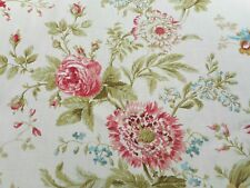 Sanderson Curtain Fabric 'Elouise' 2.6 METRES (260cm) Willow/Pink - 100% Linen