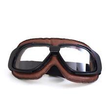 PU Leather Eyewear Goggles Aviator Pilot Glasses Retro Helmet Driving Motorcycle