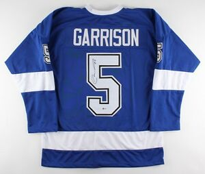 Jason Garrison Signed Lightning Jersey (Beckett COA) Tampa Bay Defenseman