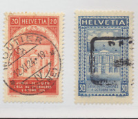 Switzerland Stamps Scott #204 To 205, Used