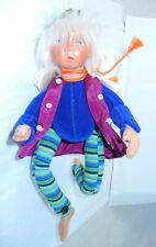 """KASMA 9"""" Porcelain Fairy Doll with Jointed Arms and Legs"""