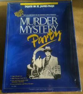 Murder Mystery De Luxe Party Game, Murder In St. James Park,6 Player, BNIB
