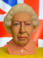 3D Printed Full Color Queen Elizabeth II Bust Statue Presidential Collectible