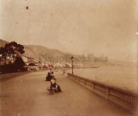 Menton La Spiaggia Francia Placca P8 Stereo Vintage Positivo 6x13cm