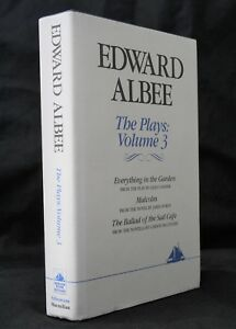 Edward Albee Plays Volume 3 Everything in the Garden Malcolm Ballad of Sad Cafe