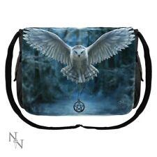 Awaken Your Magic - Pentagram Talisman Owl Messenger Bag by Anne Stokes
