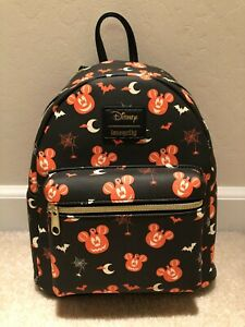 NWT LOUNGEFLY DISNEY MICKEY MOUSE PUMPKIN BACKPACK HALLOWEEN 2020 NEW WITH TAGS!