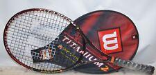 Wilson  Titanium2 Soft Shock  Prestrung  Tennis Racket  Grip  Size  L 3