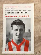 Sunderland v Charlton Xl Norman Clarke Testimonial