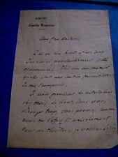 FRANCOIS-JOSEPH REGNIER Autographe Signé 1880 DRAMATURGE COMEDIEN SOCIETAIRE