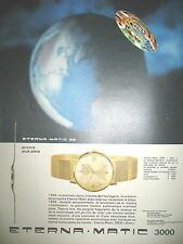 PUBLICITE DE PRESSE ETERNA MATIC MODELE 3000 DATO FRENCH AD 1956