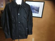 Barbour X Deus Ex Machina Niet Waxed Jacket Coat MWX0736BK51 Black XL NWT
