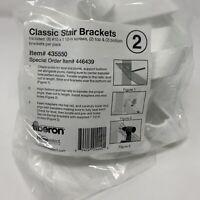 "Fiberon Classic Stair Brackets 435550 2 top/2 bottom per pack 8 #10 1.5"" Screws"