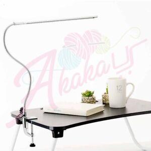 LED Nail Art Desk Lamp 360 Degree Rotation Ultra-Slim Metal Arm Eye-Caring Cold