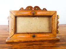 """Vintage Wooden Inlaid Picture Frame Decorative Wood Photo Photograph 7"""" x 3.5"""""""