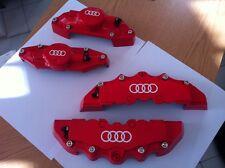 Caches Etriers Audi - Anneaux (Rouge Avant + Arrière) 3mm Epaisseur !