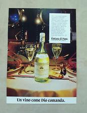 """E914- Advertising Pubblicità -1986- FONTANA DI PAPA ,COLLLI ALBANI """"SUPERIORE"""""""