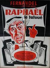 RAPHAEL LE TATOUE Affiche Cinéma / Movie Poster FERNANDEL FORMULE 1