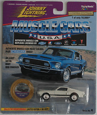Johnny Lightning -'68/1968 Ford Mustang Shelby gt-500 Bianco Nuovo/Scatola Originale