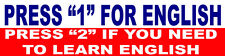 hard hat stickers, speak english, construction stickers, gun stickers, SP-5A