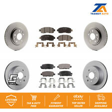 Front Rear Coated Disc Brake Rotors And Ceramic Pads Kit For Nissan Leaf