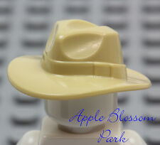 NEW Lego TAN FEDORA HAT - Outback Indiana Jones Minifig/Minifigure Head Gear