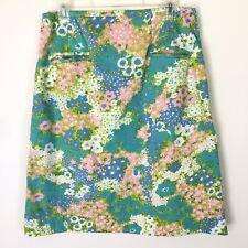 "Matilda Jane Gingersnap Skirt Size Med Floral Blue Pink Green Waist 30"""