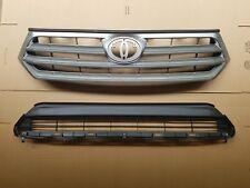 fits 2011-2013 HIGHLANDER Front Bumper Upper & Lower Grille PAIR SET 2PC