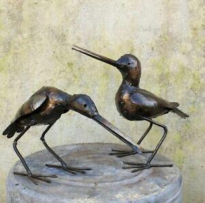 Metal Sandpiper Garden Ornament Sculpture Art - Handmade Recycled Metal Bird Act
