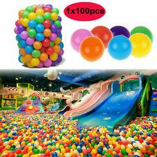 100pcs Balls Soft Plastic Ocean Ball Funny Baby Kids Swim Pit Pool Toys