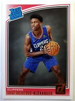 2018 18 Panini Donruss Rated Rookie Shai Gilgeous-Alexander RC #162, Clippers