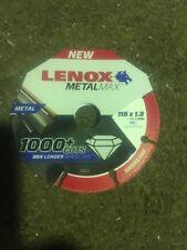 Lenox Metal Cut Off Disc  115x1.3x22.23mm MetalMax  Diamond 1985010