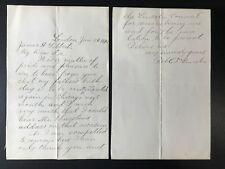 Robert Todd Lincoln Signed Letter Autograph GREAT CONTENT Abraham 1890