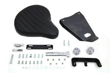 Black Leather Solo Spring Seat w Mount Kit, Fits Sportster XL 1982-2003