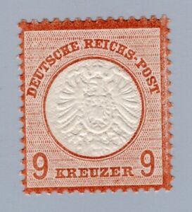 Dt. Reich 1872, Nr. 27 a, großes Brustschild 9 Kr., postfrisch mit Fotoattest