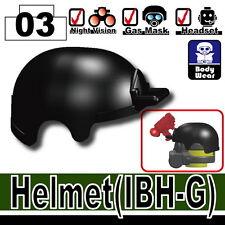 IBH-G (W99) Advanced Army Assault Helmet compatible w/ toy brick minifigures