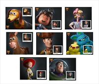 2019 DISNEY TOY STORY 4     16 SOUVENIR SHEETS  UNPERFORATED animation cartoons