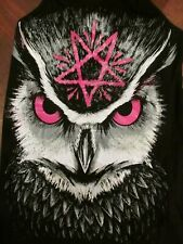 BNWT HEARTLESS NIGHT OWL DRESS  Anarchist Satanist Goth Pentagram HALLOWEEN