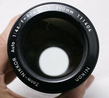 Nikon Zoom-Nikkor 80-200mm F4.5 Factory AI Converted Zoom Lens - **Haze**
