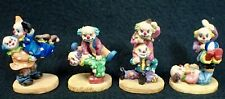 lot 4 vintage acrobatic small circus clowns collectible clown resin figurines