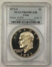 1973-S US Eisenhower Ike One Dollar Clad Coin $1 PCGS PR-69 DCAM Deep Cameo