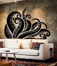 Vinyl Wall Decal Tentacles Octopus Kraken Ocean Monster Stickers (375ig)