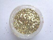 3g POT NOUVEAU NAIL  PRE-MIXED GLITTER ACRYLIC POWDER - LIGHT GOLD  MULTI SIZE
