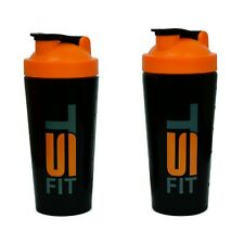 2 pk TSF 25 oz Stainless Steel Protein Workout Powder Mixer Shaker Cup Bottle