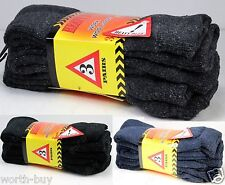 New 12 Pairs Mens Heavy Duty Warm Work Boots Wool Socks Crew Thermal Size 9-13