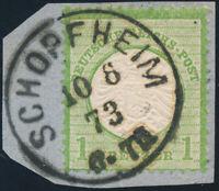 DR 1872, MiNr. 23 a, schönes Briefstück, gepr. Krug, Mi. 50,-