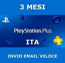 Playstation Plus PSN 3 mesi PS plus abbonamento 90 giorni