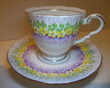 """Royal Stafford """"Glendale"""" Cup and Saucer Bone China Made in England"""