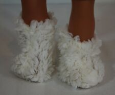 "Boots faux wool for 18"" American Girl doll shoes accessories"